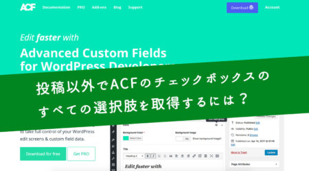 ヒーリングソリューションズ お店のホームページ運営をわかりやすくする-投稿以外でAdvanced Custom Fieldsのフィールドの値を取得する