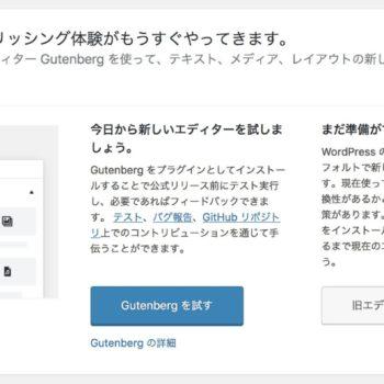 WordPress5.0から実装の新エディタ『Gutenberg』はペライチを覚えておくとスムーズ